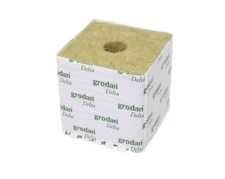 Grodan cube Delta 75x75x65mm, little hole - Individually or Box