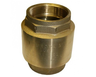 Check valve, messing 3/4""