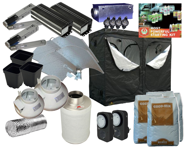 Grow-Kit Large Pro 240x120x200cm 2x 600W